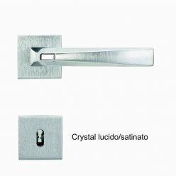 Maniglia mod. Crystal 2 Cromo satinato-lucido